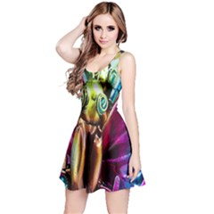 Magic Butterfly Art In Glass Reversible Sleeveless Dress