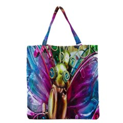 Magic Butterfly Art In Glass Grocery Tote Bag