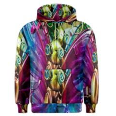 Magic Butterfly Art In Glass Men s Zipper Hoodie