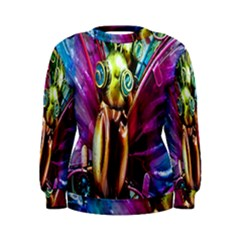 Magic Butterfly Art In Glass Women s Sweatshirt