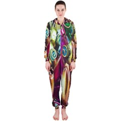 Magic Butterfly Art In Glass Hooded Jumpsuit (Ladies)
