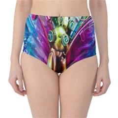 Magic Butterfly Art In Glass High-Waist Bikini Bottoms