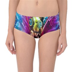 Magic Butterfly Art In Glass Mid-Waist Bikini Bottoms