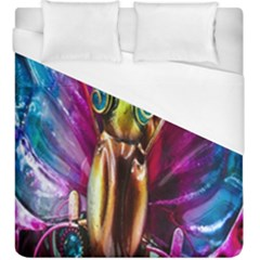 Magic Butterfly Art In Glass Duvet Cover (king Size)