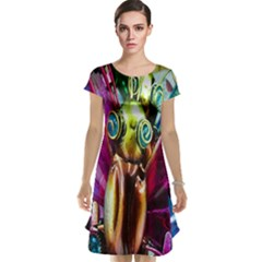 Magic Butterfly Art In Glass Cap Sleeve Nightdress