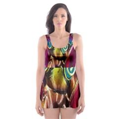 Magic Butterfly Art In Glass Skater Dress Swimsuit