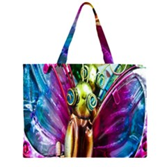 Magic Butterfly Art In Glass Large Tote Bag