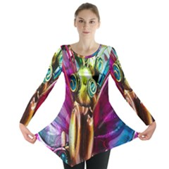 Magic Butterfly Art In Glass Long Sleeve Tunic