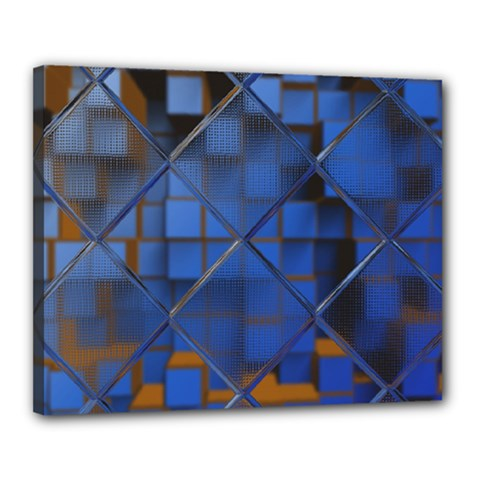 Glass Abstract Art Pattern Canvas 20  X 16