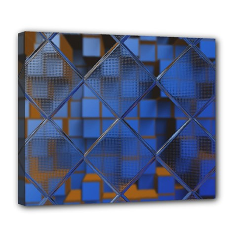 Glass Abstract Art Pattern Deluxe Canvas 24  X 20