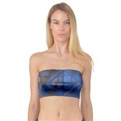 Glass Abstract Art Pattern Bandeau Top