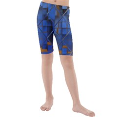 Glass Abstract Art Pattern Kids  Mid Length Swim Shorts