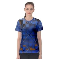 Glass Abstract Art Pattern Women s Sport Mesh Tee