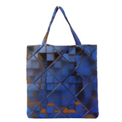 Glass Abstract Art Pattern Grocery Tote Bag