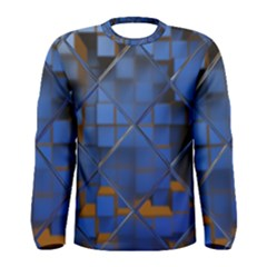 Glass Abstract Art Pattern Men s Long Sleeve Tee