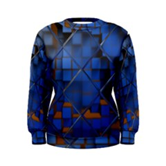 Glass Abstract Art Pattern Women s Sweatshirt