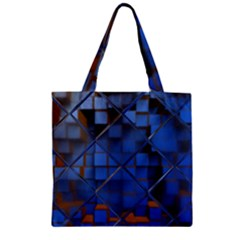 Glass Abstract Art Pattern Zipper Grocery Tote Bag