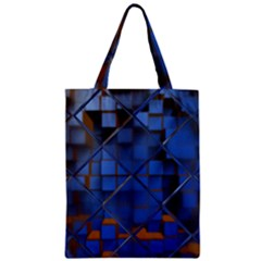Glass Abstract Art Pattern Zipper Classic Tote Bag