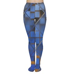 Glass Abstract Art Pattern Women s Tights