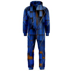 Glass Abstract Art Pattern Hooded Jumpsuit (men)
