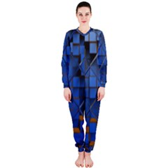 Glass Abstract Art Pattern OnePiece Jumpsuit (Ladies)