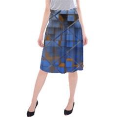 Glass Abstract Art Pattern Midi Beach Skirt