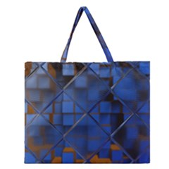 Glass Abstract Art Pattern Zipper Large Tote Bag
