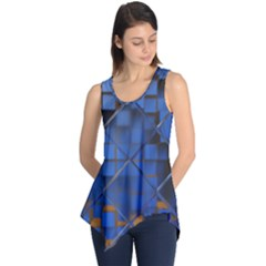 Glass Abstract Art Pattern Sleeveless Tunic