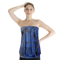 Glass Abstract Art Pattern Strapless Top