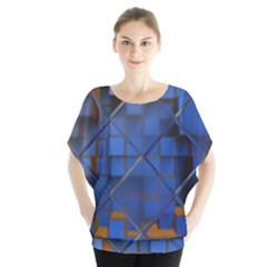 Glass Abstract Art Pattern Blouse
