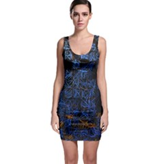Background Abstract Art Pattern Sleeveless Bodycon Dress