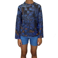 Background Abstract Art Pattern Kids  Long Sleeve Swimwear
