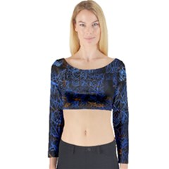 Background Abstract Art Pattern Long Sleeve Crop Top