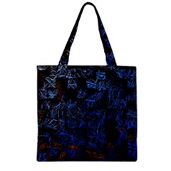 Background Abstract Art Pattern Zipper Grocery Tote Bag