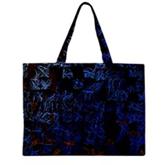 Background Abstract Art Pattern Zipper Mini Tote Bag