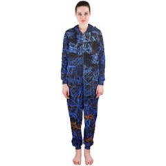 Background Abstract Art Pattern Hooded Jumpsuit (ladies)