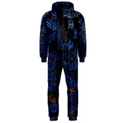 Background Abstract Art Pattern Hooded Jumpsuit (Men)