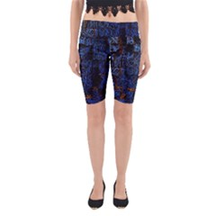 Background Abstract Art Pattern Yoga Cropped Leggings