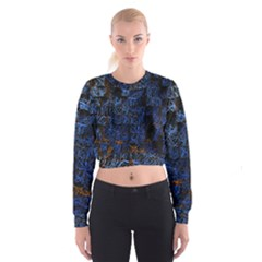 Background Abstract Art Pattern Cropped Sweatshirt