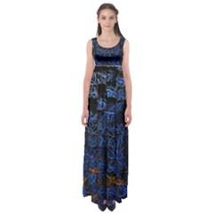 Background Abstract Art Pattern Empire Waist Maxi Dress