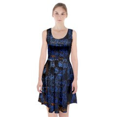 Background Abstract Art Pattern Racerback Midi Dress