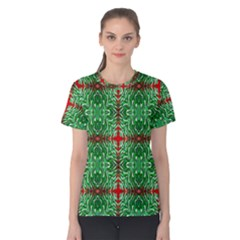 Geometric Seamless Pattern Digital Computer Graphic Women s Cotton Tee