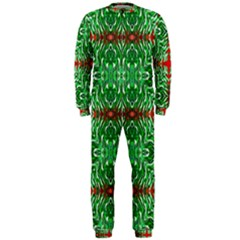 Geometric Seamless Pattern Digital Computer Graphic Onepiece Jumpsuit (men)