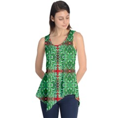 Geometric Seamless Pattern Digital Computer Graphic Sleeveless Tunic