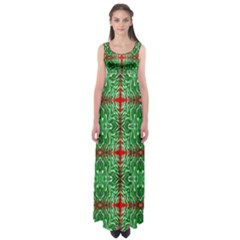 Geometric Seamless Pattern Digital Computer Graphic Empire Waist Maxi Dress