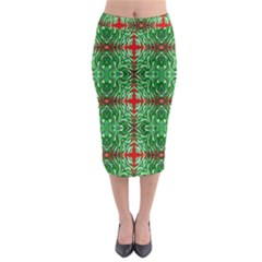 Geometric Seamless Pattern Digital Computer Graphic Midi Pencil Skirt