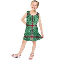 Geometric Seamless Pattern Digital Computer Graphic Kids  Tunic Dress