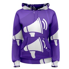 Announce Sing White Blue Women s Pullover Hoodie