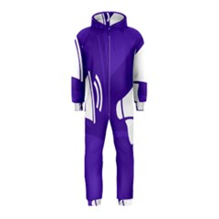 Announce Sing White Blue Hooded Jumpsuit (Kids)