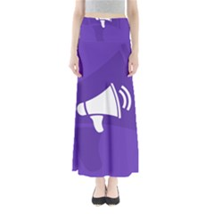 Announce Sing White Blue Maxi Skirts